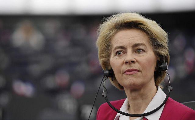 Časa za dogovor o prihodnjih odnosih z Združenim kraljestvom ni veliko, je včeraj v Strasbourgu poudarila predsednica komisije. Foto: AFP