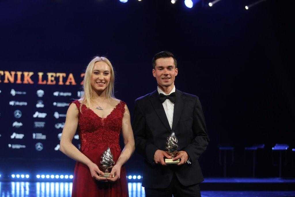 Obrazložitev, zakaj sta Garnbretova in Roglič letošnja najboljša športnika v Sloveniji
