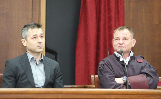 Jožeta Kojca zagovarja odvetnik Franci Matoz. FOTO: Marko Feist/Slovenske novice