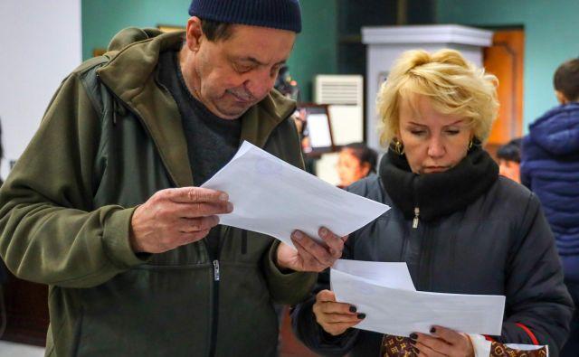 Volitve v uzbekistanski prestolnici Taškent. FOTO: Yuri Korsuntsev/AFP