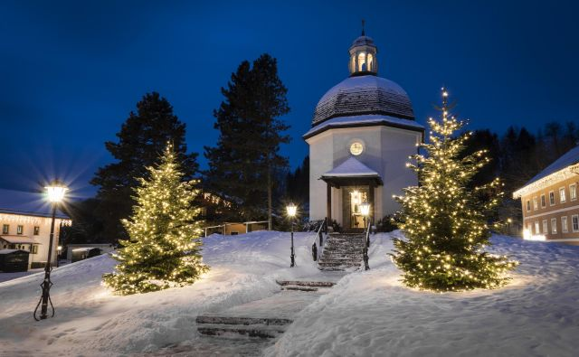 V tej kapeli v Oberndorfu se je rodila pesem Sveta noč. Foto Tourismusverband Oberndorf