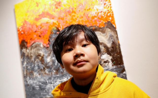 Xeo Chu, čudežni deček iz Vietnama razstavlja v New Yorku. FOTO: Shannon Stapleton/Reuters