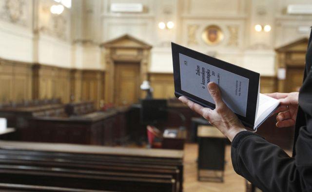 1 pobudo za uvedbo disciplinskega postopka je lani podal sodni svet (zaradi vedenja in ravnanja sodnika, ki je v nasprotju s sodniško neodvisnostjo ali s katerim se krši ugled sodniškega poklica)FOTO: Leon Vidic/Delo