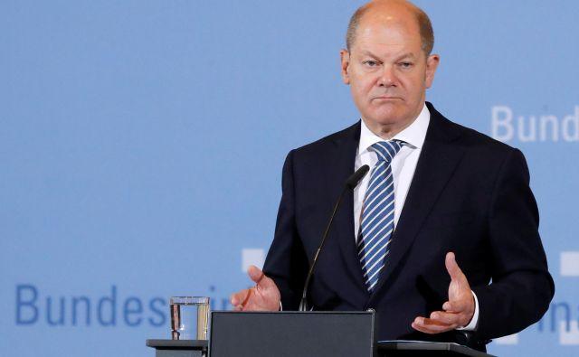 Nemški finančni minister Olaf Scholz Američanom sporoča, naj se ne igrajo s sankcijami zaradi plinovoda. Fotro Reuters<br />