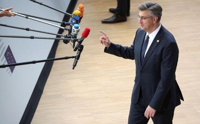 Hrvaška vlada pod vodstvom premiera Andreja Plenkovića bo prevzela predsedovanje svetu EU na začetku novega institucionalnega cikla. Foto: Reuters