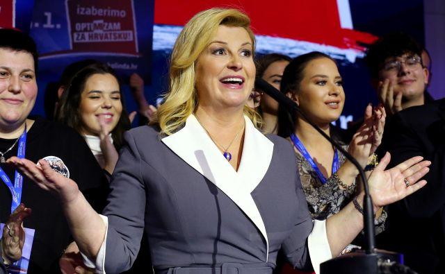 Hrvaška predsednica je po soočenju za RTL izjavila, da je bila debata ostra.FOTO: Antonio Bronic/Reuters