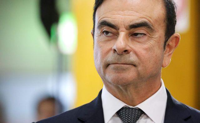 Carlos Ghosn je bil do aretacije novembra lani ena najbolj uglednih in močnih oseb v avtomobilski industriji. FOTO: Ludovic Marin/Afp