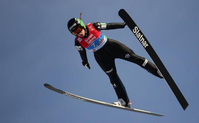 Urša Bogataj na letošnjem svetovnem prvenstvu v Seefeldu. FOTO: Lisi Niesner/Reuters
