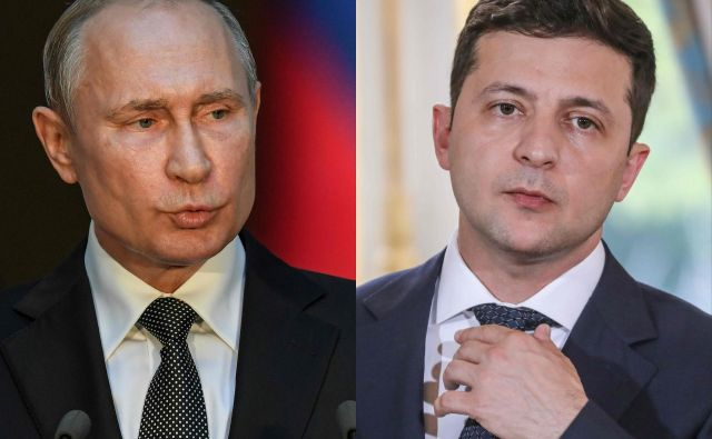 Putin in Zelenski sta izrazila upanje, da bi prekinitev ognja dosegli v bližnji prihodnosti. Moskva in Kijev pripravljata tudi novo izmenjavo ujetnikov med Ukrajino in proruskimi separatisti na vzhodu Ukrajine. FOTO: Tiziana Fabi, Ludovic Marin/AFP