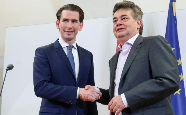 Sebastian Kurz in Werner Kogler FOTO: Lisi Niesner/Reuters