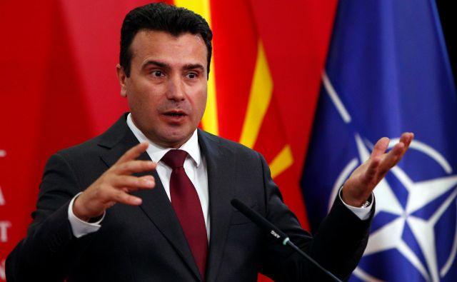 Zoran Zaev, ki je položaj premiera nastopil leta 2017, je ves svoj politični kapital stavil na članstvo Severne Makedonije v EU in Natu. FOTO: Ognen Teofilovski/Reuters