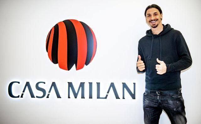 Zlatana Ibrahimovića je doma, so pri Milanu pozdravili prihod švedskega bombarderja. FOTO: Reuters