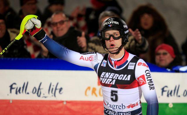Clement Noel se je veselil prve zmage v Zagrebu. FOTO: Reuters