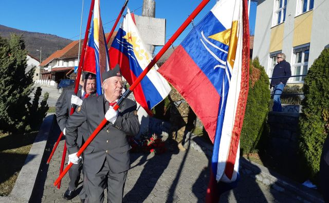 Prireditve ob obletnici pohoda Štirinajste divizije na Štajersko so se udeležili številni praproščaki. FOTO: F. J.
