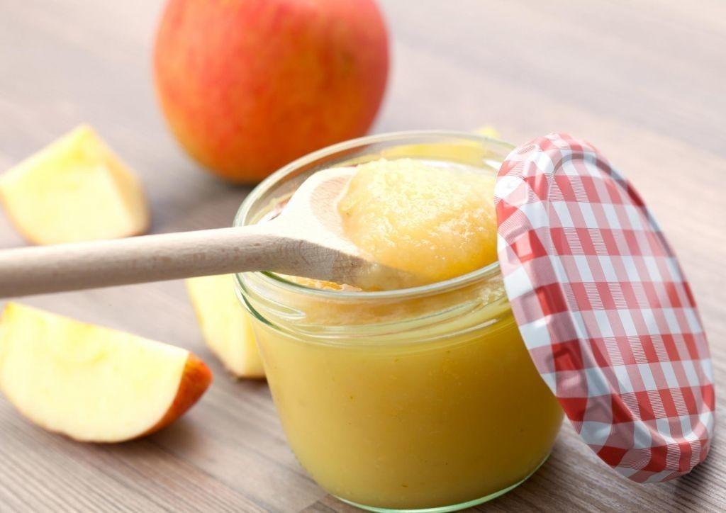 Jabolčni pire pred vadbo