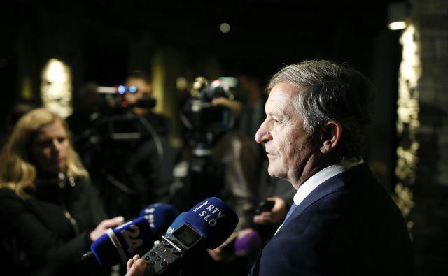 Karl Erjavec zanika, da bi kdorkoli delal za promocijo njega kot predsednika Desusa. FOTO: Blaž� Samec/Delo