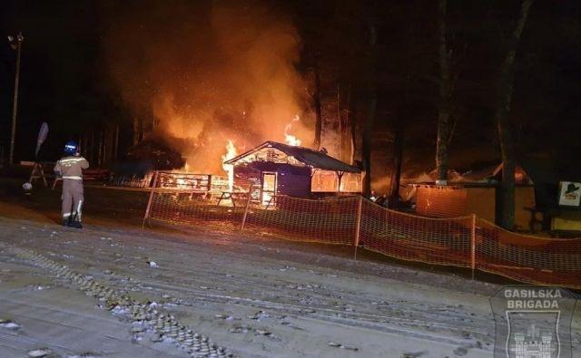 Požar na Pohorju. FOTO: Gasilska brigada Maribor