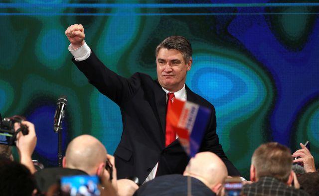 Zmagoslavje Zorana Milanovića prinaša pretrese v vladajočo stranko HDZ. FOTO: Marko Djurica/ Reuters