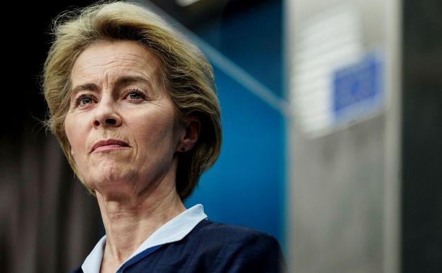 Ursula von der Leyen pričakuje aktivacijo vseh diplomatskih kanalov.FOTO: Kenzo Tribouillard/AFP