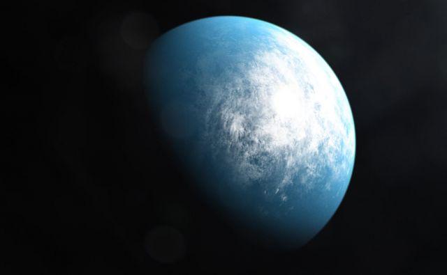 Umetniška upodobitev planeta TOI 700 d, ki ga je odkril satelit Tess. FOTO: NASA/Goddard/AFP