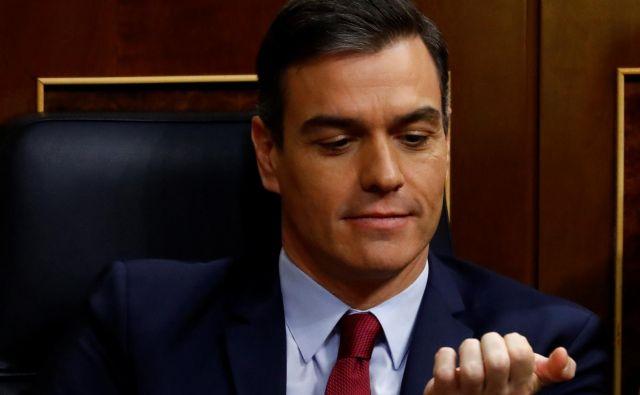 Socialist Pedro Sánchez dobil zaupnico, da zavlada Španiji. FOTO: Reuters