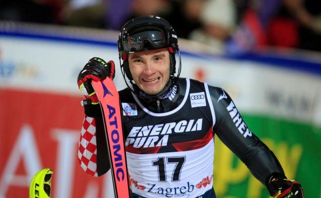 Najboljši hrvaški slalomist Istok Rodeš je najvišje doslej zmogel na 7. mesto. FOTO: Reuters