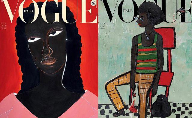 Ilustracije ne krasijo samo naslovnico aktualne številke Vogue Italia, ampak tudi njene notranje strani. Promocijsko gradivo
