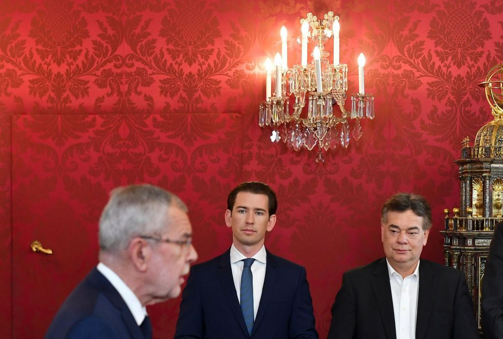 Prisegla je nova turkizno-zelena avstrijska vlada