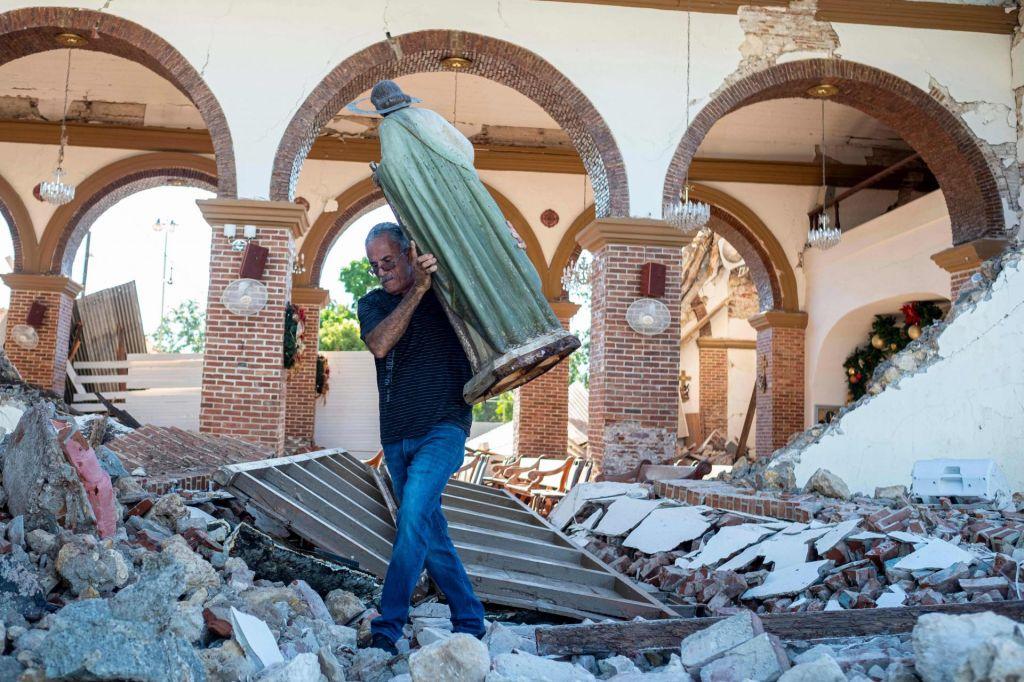FOTO:Portoriko prizadel najhujši potres v več kot stoletju