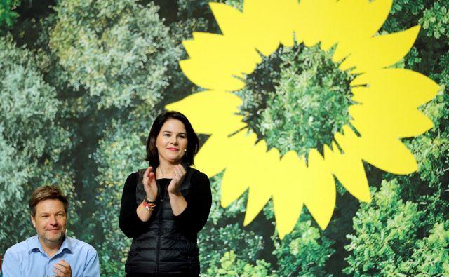 Stranko Zeleni vodita Robert Habeck in Annalena Baerbock.<br /> Foto Reuters