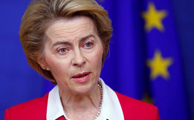 EU ima preizkušene odnose s številnimi akterji na Bližnjem vzhodu in lahko pripomore k zmanjševanju napetosti, je poudarila predsednica evropske komisije Ursula von der Leyen. FOTO: Reuters