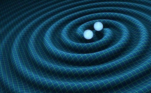 Ilustracija približevanja dveh nevtronskih zvezd. FOTO: Eso