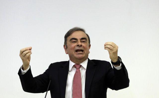 Carlos Ghosn: Obtožbe proti meni so popolnoma neutemeljene, gre za zaroto Nissana in japonskih tožilcev. Foto AFP