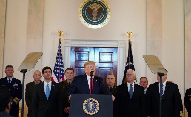 Ameriški predsednik Donald Trump. Foto: Kevin Lamarque/Reuters