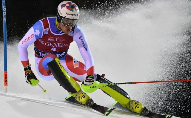 Daniel Yule je »doma« v Madonni di Campiglio, saj je tudi svojo drugo zmago v svetovnem pokalu dosegel na tej klasični slalomski preizkušnji v svetovnem pokalu. FOTO: AFP