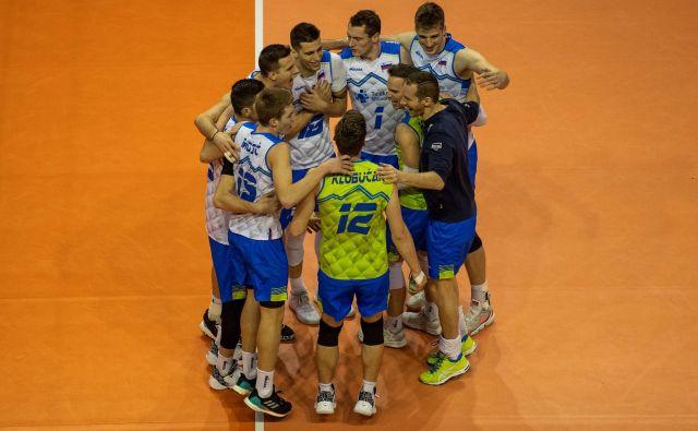 Slovenija je v Berlinu dosegla še tretjo zmago, a bitka za olimpijski turnir se šele začenja. FOTO: AFP