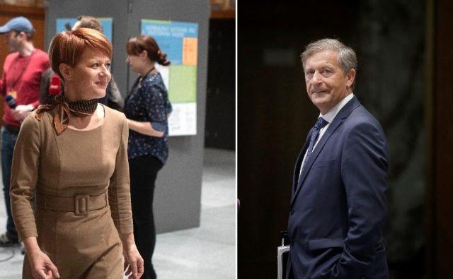 Kljub temu da se za funkcijo potegujejo trije kandidati, še Borut Stražišar, imata realne možnosti le Pivčeva in Erjavec. Odločitev glede predsednika bodo v Desusu sprejeli 18. januarja. FOTO: Delo
