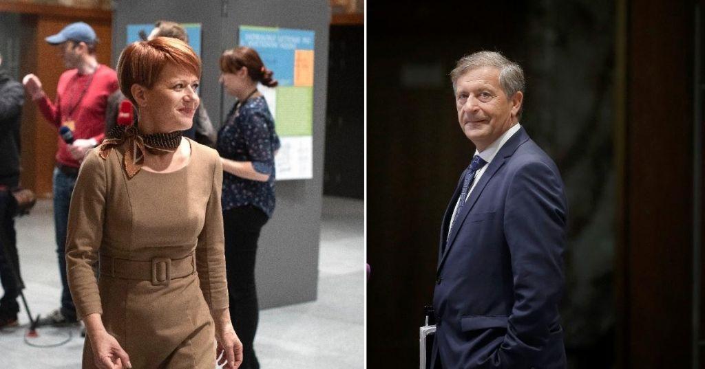 FOTO:Karl Erjavec in Aleksandra Pivec proti zlitju strank, manj enotno glede resornega ministrstva
