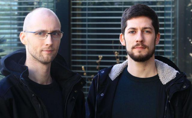 Matej Križanec in Martin Valinger Sluga sta člana gibanja Kje bomo pa jutri spali? Foto: Tomi Lombar