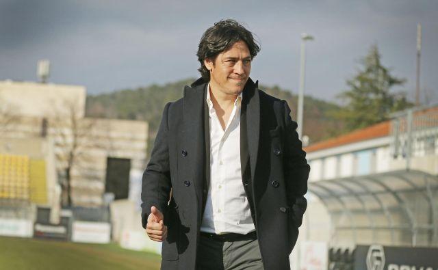 Mauro German Camoranesi postal novi trener članske ekipe CherryBox24 Tabor Sežana. Sežana, 10. januar 2020 Foto Leon Vidic/delo
