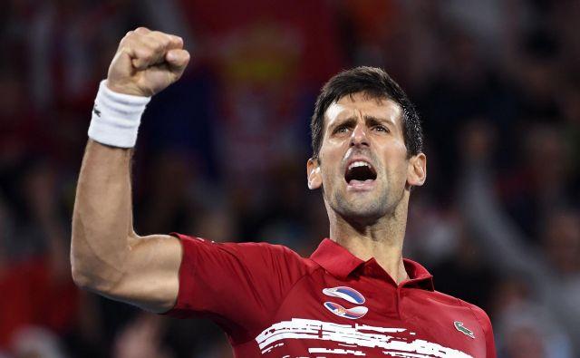 Novak Đoković je leto 2020 začel zmagovito, Srbijo je popeljal do zmagoslavja na prvem ATP Cupu. FOTO: AFP