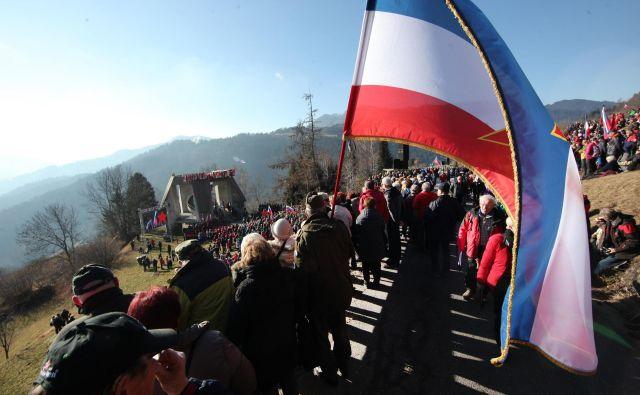 Spomin na Dražgoško bitko je tudi po 78-letih še kako živ. FOTO: Mavric Pivk/Delo