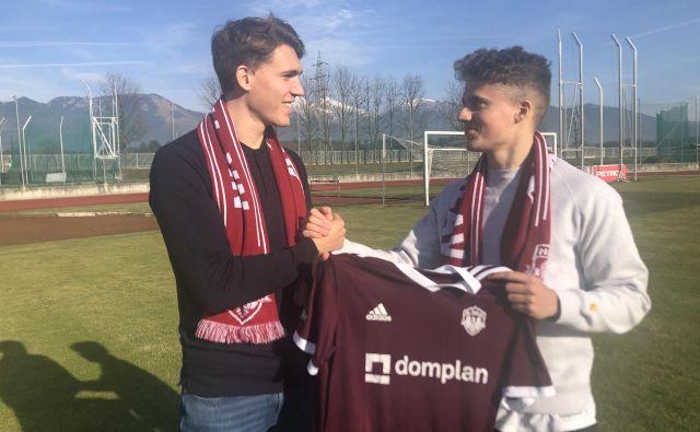 Reno (levo) in Marten Wilmots imata slavnega očeta Marca, a sta kljub temu prišla v Slovenijo, kjer bosta spomladi v 1. SNL igrala za Triglav. FOTO: NK Triglav