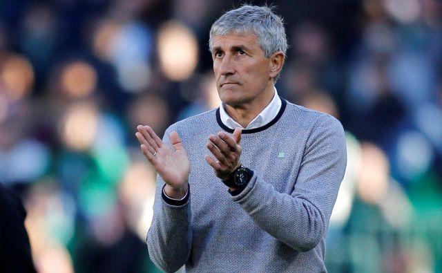 Quique Setien je novi trener Barcelone. FOTO: Reuters