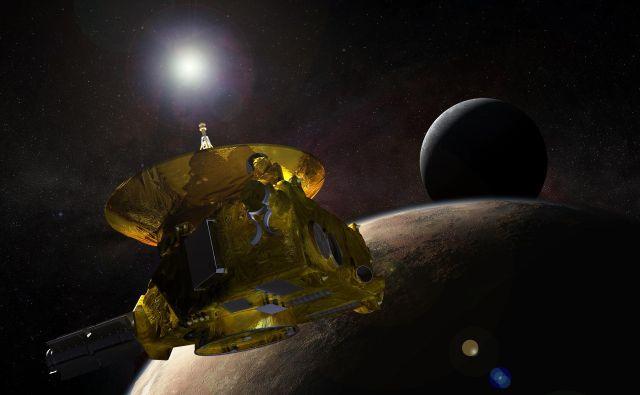 Umetniška upodobitev sonde New Horizons FOTO: Nasa