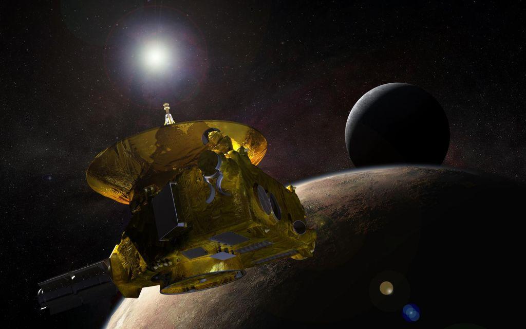 FOTO:Varčna sonda, ki je obletela Pluton in od blizu videla Kupierjev pas