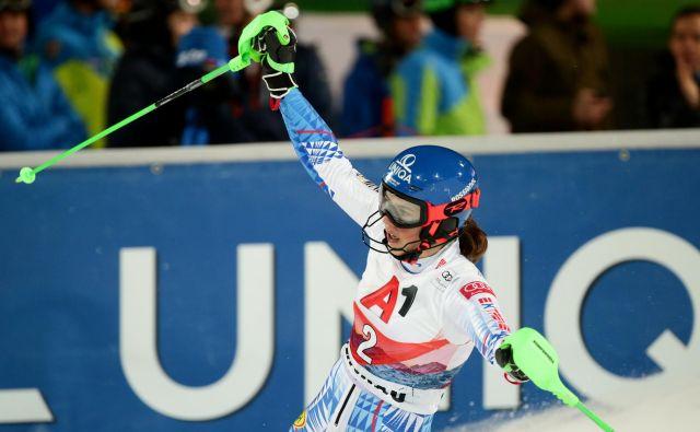 Petra Vlhova je ujela zmagovalni ritem, leto 2020 je začela z zmago na slalomu v Zagrebu, danes ji je dodala še drugo v Flachauu. FOTO: Reuters