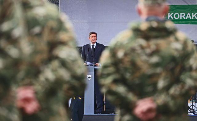 Upam, da bodo do konca meseca vzpostavljeni pogoji, da se bo nov kontingent Slovenske vojske tja vrnil in nadaljeval svoje delo, je, v uvodu v svoje pismo zapisal predsednik.FOTO: Tadej Regent/delo