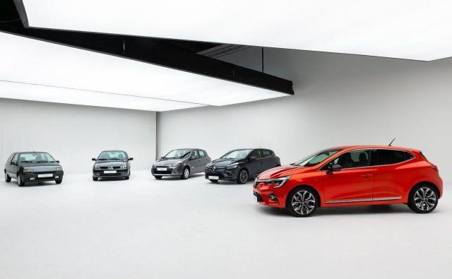 Vseh pet generacij renaulta clia Foto Renault