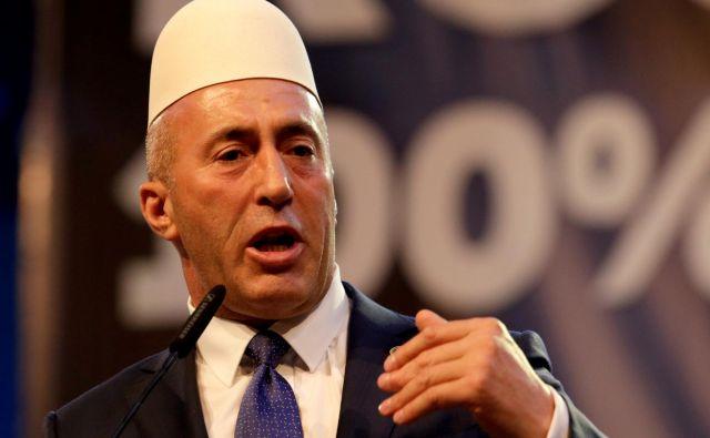 Haradinaj je odstopil tudi s položaja predsednika AAK, ker se mu ni izšel račun, daz rušenjem vlade in predčasnimi parlamentarnimi volitvami utrdisvoj položaj v kosovski politični nomenklaturi. FOTO: Florion Goga/Reuters